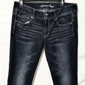 American Eagle Dark Wash Artist Stretch Jeans